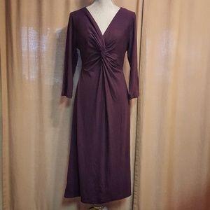 anne klein burgundy dress