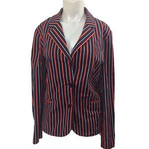 Talbots Stretch Blazer striped Plus size 18
