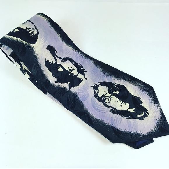 055005f94ae5 Vintage Accessories   Beatles Tie Purple And Black   Poshmark