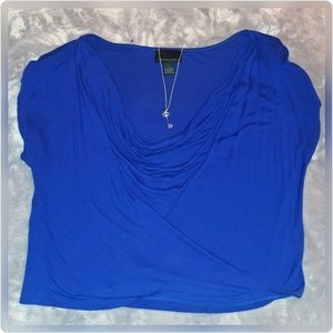 Cynthia Rowley blue top.