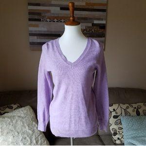 Old Navy Purple V-Neck Sweater