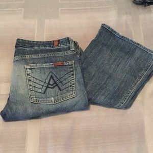 "Sz 27 ""A"" pocket 7 jeans"