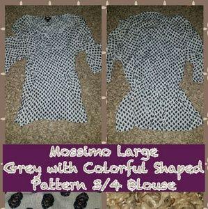 EUC Mossimo Large Light Grey Tunic Top