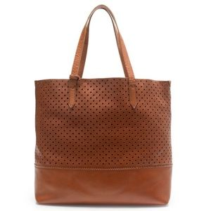 J. Crew Downing Tote in Perforated Leather