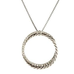 David Yurman Crossover Diamond Pendant Necklace