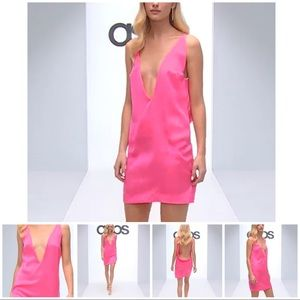 Solace London Holly Plunge Dress PINK NWT ASPS EXC