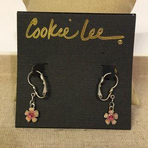 Pretty Pink Flower Earrings