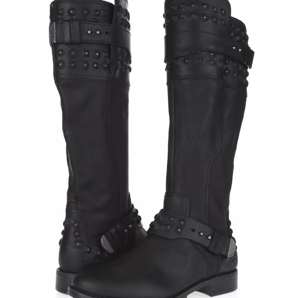 d86427425ef UGG Dayle tall leather studded boots (8)