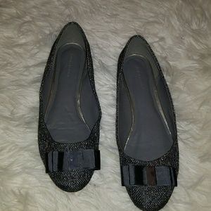 Banana Republic Tweed Flats with Bow Size 8