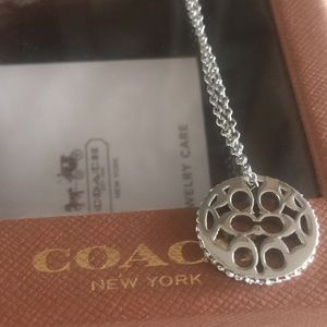 Coach pave charm necklace