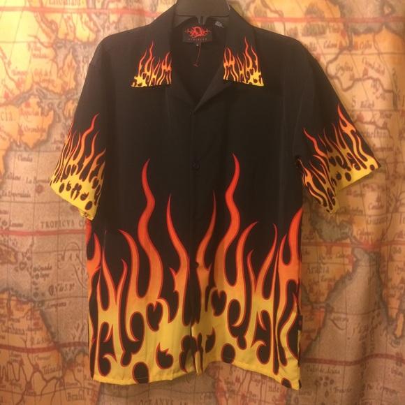 Shirts Just Wow Guy Fieri Flame Button Up Ugly Shirt S Poshmark