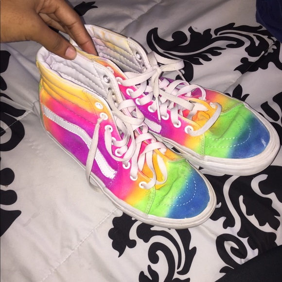 Vans Shoes   Rainbow Customized Vans