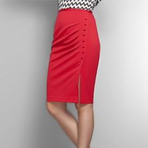 New York & Company Side Button Pencil Skirt