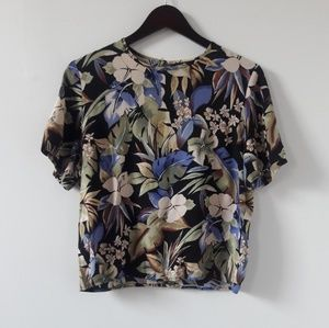 Tropical Print Top by Sag Harbor.