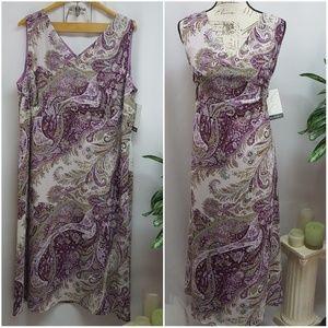 Emma James Plus Size Sleeveless Dress 20W NWT