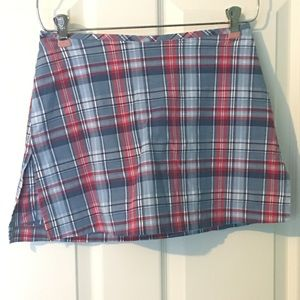 Plaid Skort Juniors 3/4 Skirt Shorts