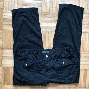 Lauren Ralph Lauren Cropped Pants Black Sz 14 LRL