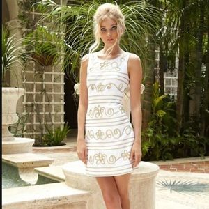 2902574a910b58 Lilly Pulitzer Dresses - $239 lilly pulitzer lennox shift dress white gold