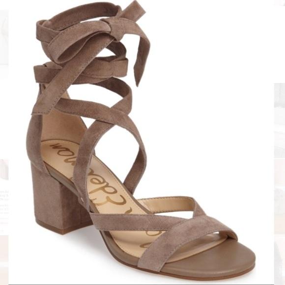 89dbd9b911c6 Sam Edelman Sheri Ankle Wrap Sandals Block Heels. M 5a28233e99086a5c5e03dd21