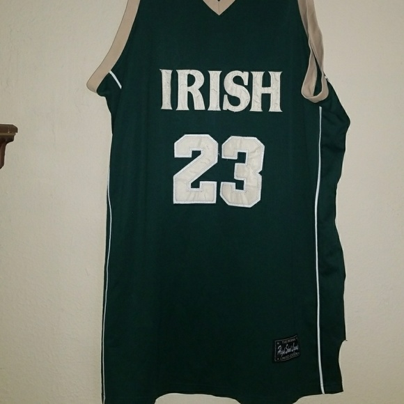 super popular 58cb0 7be4a Men's jersey Irish LeBron James high school legend