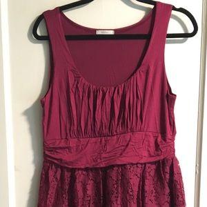 Knit and lace dress