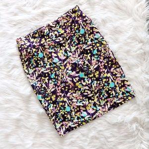 LuLaRoe Floral Cassie Pencil Skirt