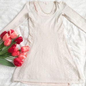 VS Light Oatmeal Colored Knit Dress
