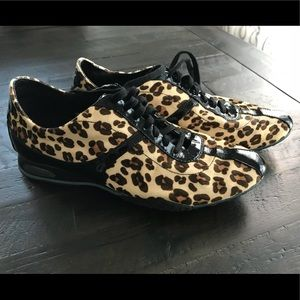 Cole Haan leopard faux lace up shoes/snickers