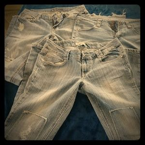 3 pairs of juniors jeans for girls