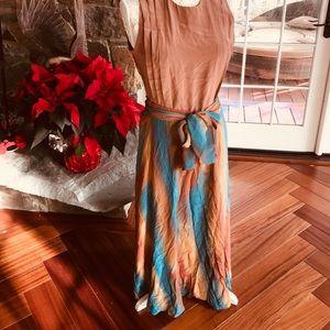 Yomani vintage silk maxi skirt
