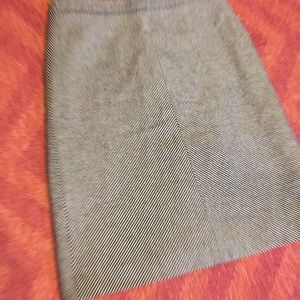 J. Crew Skirts - J. Crew black and white tweed wool stripe skirt 6