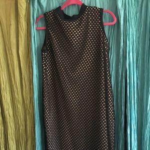 Rue 107 Nude/black caged dress