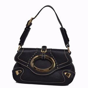 4a952177b0 ... FENDI METALLIC GOLD ZUCCHINO LEATHER BAG Mario Valentino Simeon Studded  Leather Backpack NWT Dolce   Gabbana Black Leather Shoulder ...