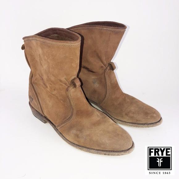 1b8e599f8d2c Frye Shoes - FRYE Dorado Motorcycle Suede Short Boots 9