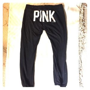 VS PINK Embroidered Loungepants