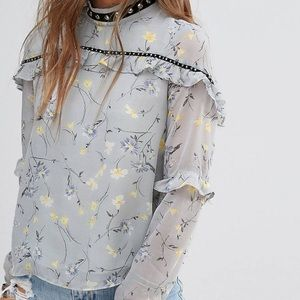 NWT ASOS long sleeve with floral print