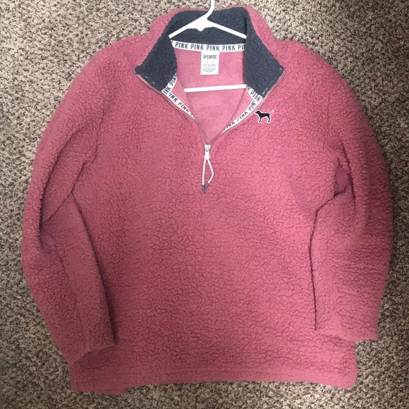38% off PINK Tops - XS VS Pink Sherpa Pullover from Stephanie's ...