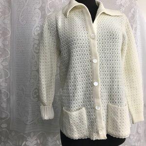 Vintage White Knit Sweater