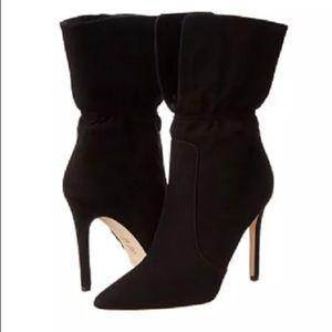 Via Spiga Black Suede 'Felienne' High Heel Boots