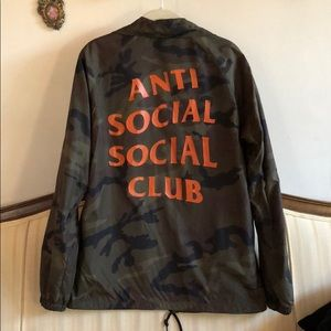 8cea62caa172 Anti Social Social Club Jackets   Coats - Anti Social Social Club Camo  Coaches Jacket