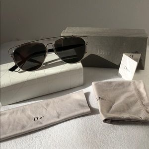 Dior Technological 57mm Brow Bar Sunglasses