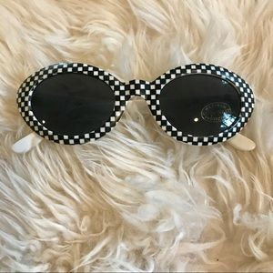 Vintage from London black & white check sunglasses