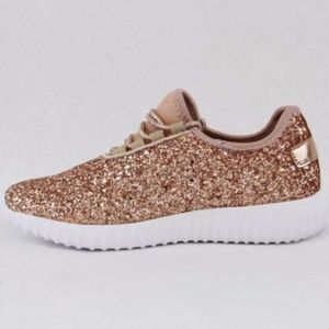 118751ded516 Shoes - New Womens Rose Gold Glitter Tennis Shoes Sneakers