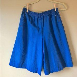 Vintage Blue Culottes Highwaisted Shorts