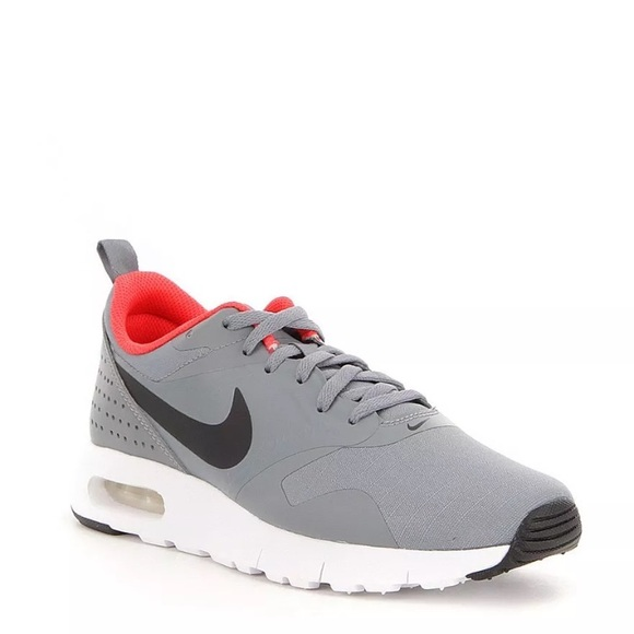 sports shoes fd8f8 fc54f Nike Air Max Tavas Cool Gray  White Orange Sneaker