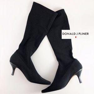 Donald Pliner NIKKO 2 Stretch Kitten Heel Boots
