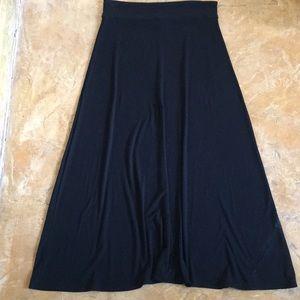 New! Gap black maxi skirt woman's  size L