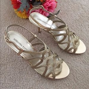 Platino Gold French Rope Heels