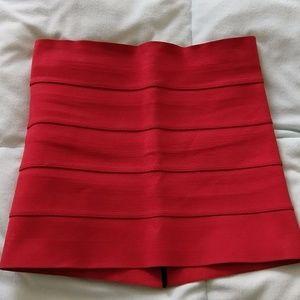 Pleasure Doing Business 5 Band Mini Skirt Red