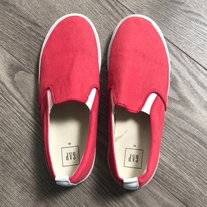 GAP red slip-on shoes